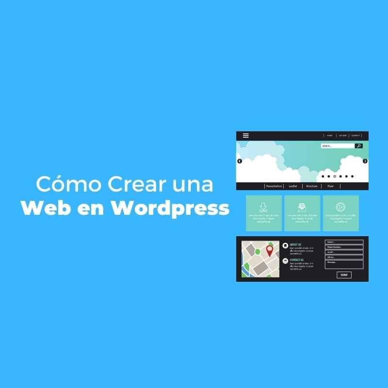 como crear una web en wordpress