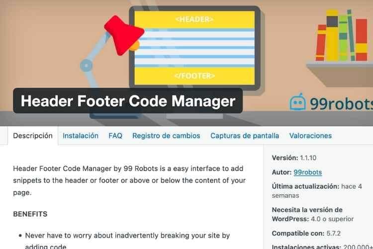 header footer code manager